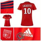 Maillot (Lacazette 10) Olympique Lyonnais Femme 2015 16 Extérieur