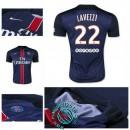 Maillot (Lavezzi 22) Paris Saint Germain 2015/16 Domicile