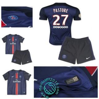 Maillot (Pastore 27) Paris Saint Germain Enfant Kits 2015/2016 Domicile