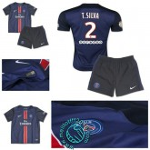 Maillot (T.Silva 2) Paris Saint Germain Enfant Kits 2015 2016 Domicile