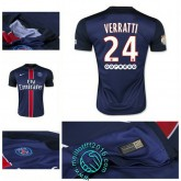 Maillot (Verratti 24) Paris Saint Germain 2015 2016 Domicile