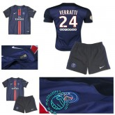 Maillot (Verratti 24) Paris Saint Germain Enfant Kits 2015-16 Domicile