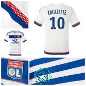 Maillots (Lacazette 10) Olympique Lyonnais 2015-16 Domicile