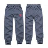 """Pantalon De Survêtement Gris - Rouge """"Adidas"""" Logo Livraison Gratuite"""