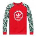 Pull Adidas Rouge Vert Rabais