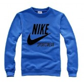 "Pull Bleu Nike - Noir Logo ""Nike"" Nouveau"