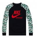 """Pull Nike Noir - Rouge """"Nike"""" Logo Soldes Lyon"""