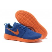 Roshe Run Nike Chaussure Bleu Orange Ventes Privees