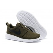 Roshe Run Nike Chaussure Café Blanc Soldes France