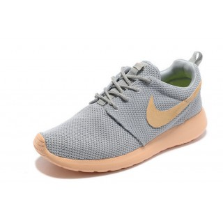 Roshe Run Nike Chaussure Gris Rose Soldes Nice