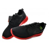 Roshe Run Nike Chaussure Noir Rouge France Site Officiel