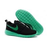 Roshe Run Nike Chaussure Noir Vert Soldes Avignon