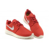 Roshe Run Nike Chaussure Rouge/Blanc Soldes Alsace