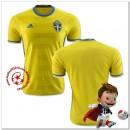 Suède Maillots De Foot Domicile Coupe Euro 2016