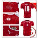 Suisse Maillots Foot Xhaka Domicile Coupe Euro 2016