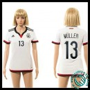 Taille Maillot Allemagne (Muller 13) Femme Domicile 2015 Coupe Du Monde En Ligne